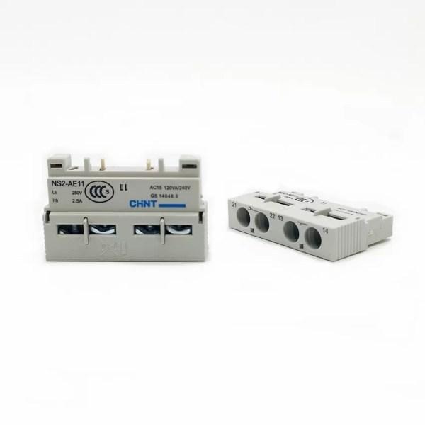 2 unids lote CHINT NS2 AE11 de contacto auxiliar para Motor de arranque serie NS2 1 CHINT NS2-AE11