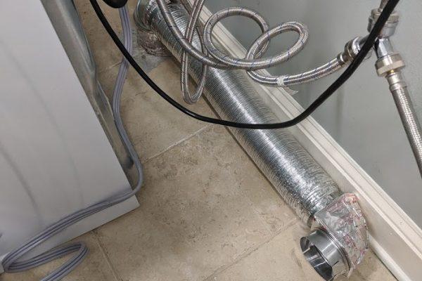 modified dryerflex transition flush install