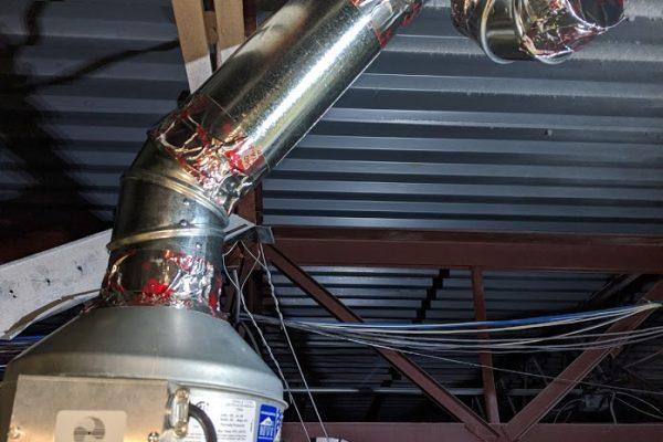 dryer vent booster installation
