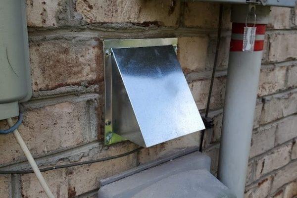 galvanized vent cover