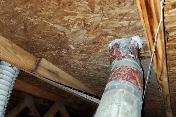 repair fallen dryer vent