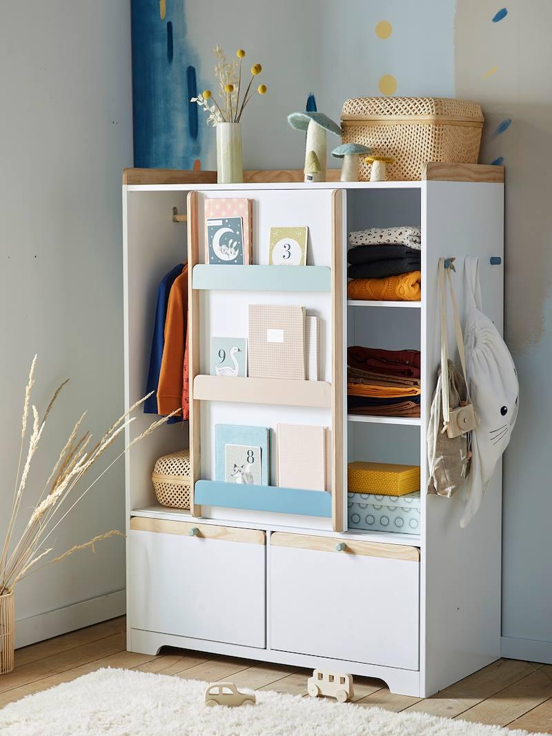 armoire ligne abc blanc bois pas cher