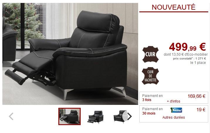 fauteuil relax electrique metronomy en