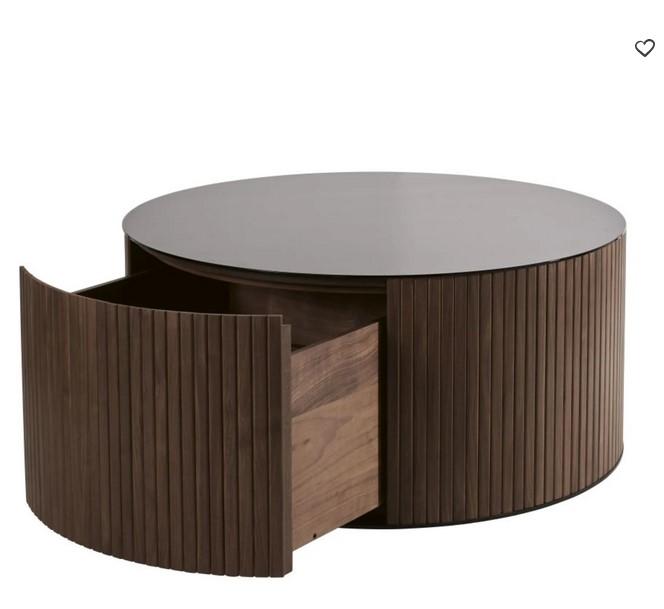 table basse ronde spiga 1 tiroir en