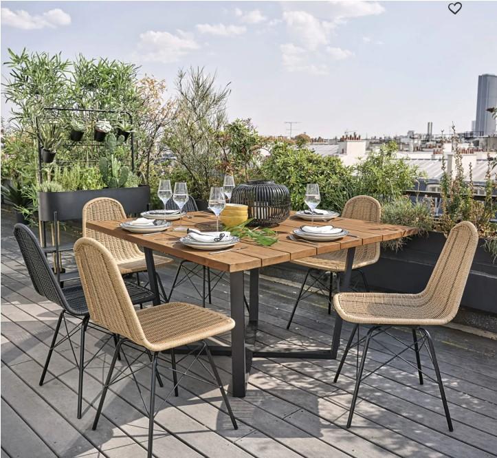 table de jardin maisons du monde