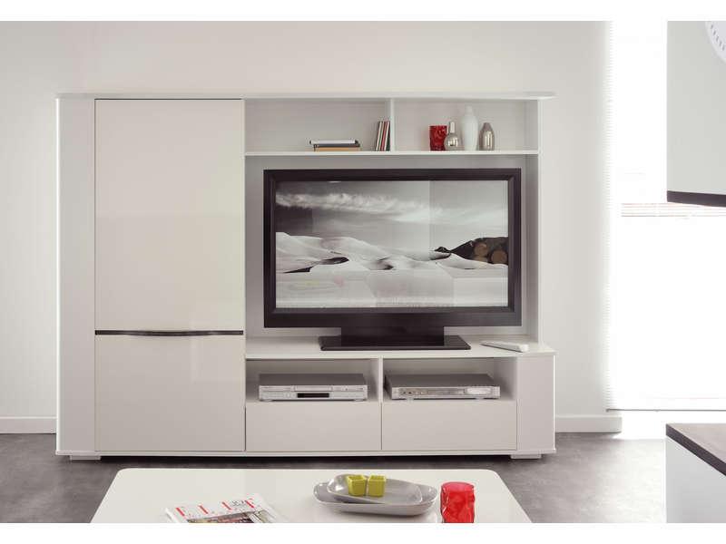 meuble tv coloris blanc meuble tv pas