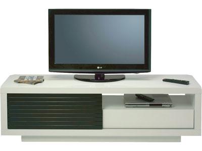 meuble tv conforama pas cher meuble tv clip coloris blanc ventes pas cher com