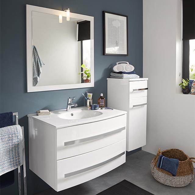 meuble de salle de bains blanc deliss meuble de salle de bains castorama meubles maison loisirs ventes pas cher com
