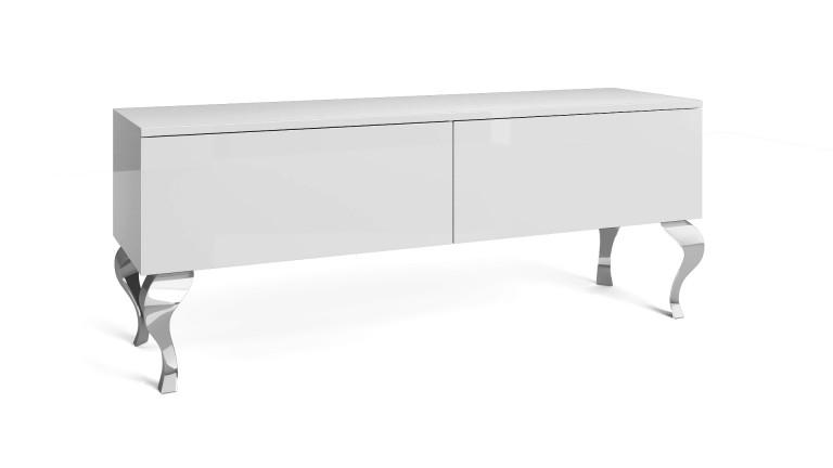 meuble tv betty 2 tiroirs avec pieds