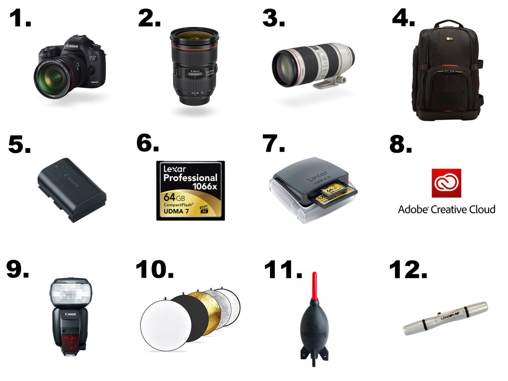12 essential items all photographers should have in their kit