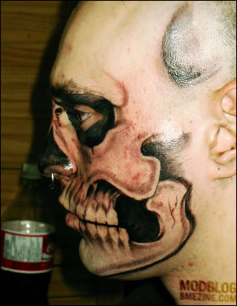Skull Face Tattoo: The World's Craziest Tattoo?
