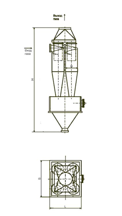 ЦН-11-800-4СП с бункером и сборником