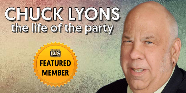 CHUCK LYONS, the life of the party