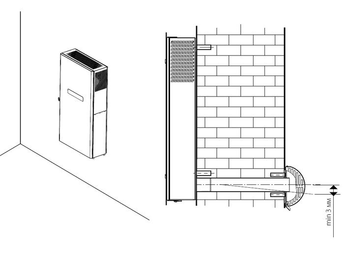 Установка на наружную стену