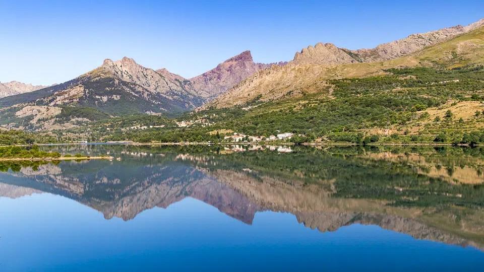 Corsican calacuccia lake