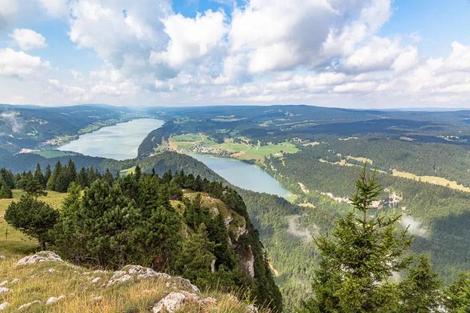 valley of joux from dent de vaulion