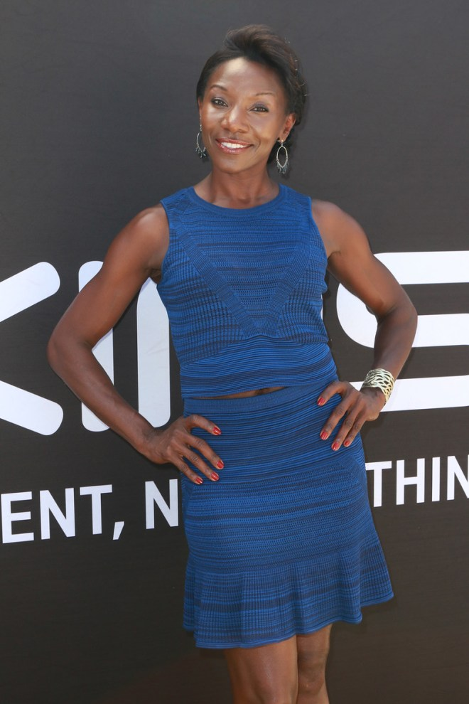 Jeryl Prescott poses at The Starving Artists Project in Los Angeles. PHOTO CREDIT: Tasia Wells/The Starving Artists Project
