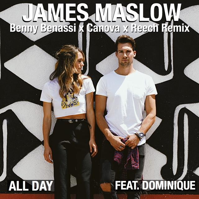 "Benny Benassi Joins James Maslow on ""All Day"" Remix ft. Dominique, Canova and Reech ile ilgili görsel sonucu"
