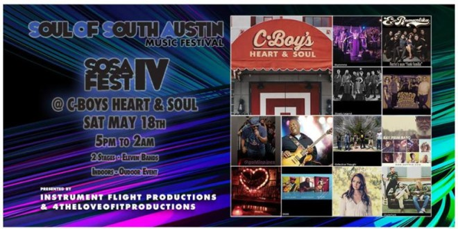 SOUL OF SOUTH AUSTIN MUSIC FESTIVAL IV ANNOUNCES LINEUP