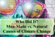 Who Did It? Man-Made vs. Natural Causes of Climate Change