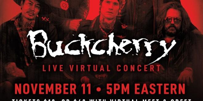 Buckcherry Live Concert Stream Premieres 11/11