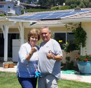 The 100th Solarize Ventura customer, Cathy Mims-Keyser is very happy with her new solar installation.
