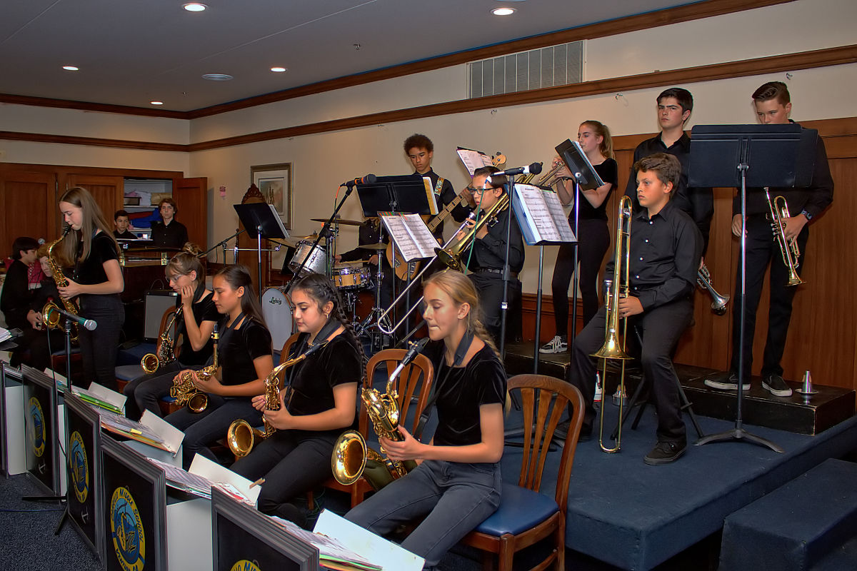 Cabrillo Middle School Jazz Band Perform For The Channel