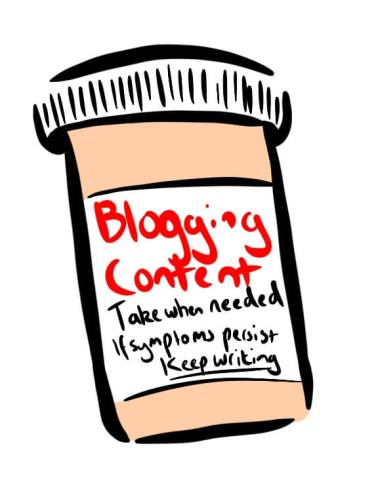 Cartoon of how often you should blog