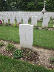 Stone headstones for the British and Empire graves