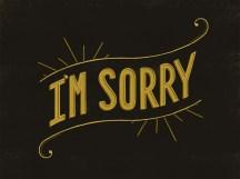 Me desculpe...