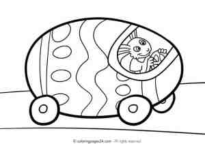 free printable easter egg car coloring page