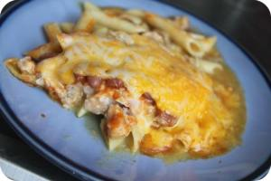 Enchilada Pork Pasta Casserole Recipe
