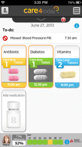 There is an app for telling your mom you took your medicine #Care4Today