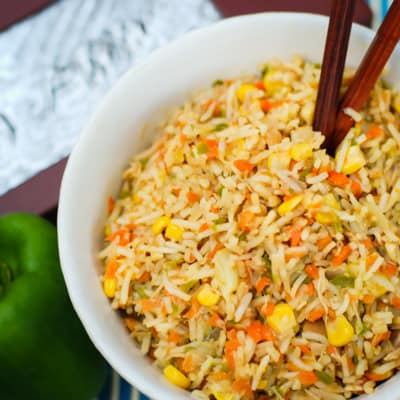 Rainbow Fried Rice Recipe