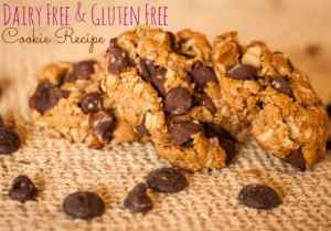 Dairy Free Gluten Free Dark Chocolate Chip Cookies