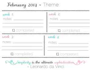 February Goals: Streamline {Free Printable Checklists}