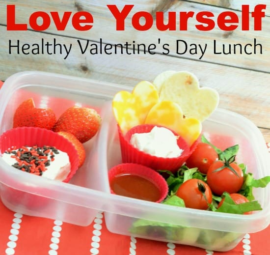 healthy and sweet valentine's day lunch