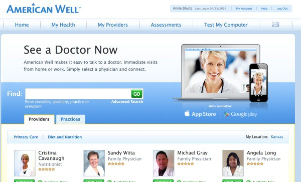 American Well see a doctor online