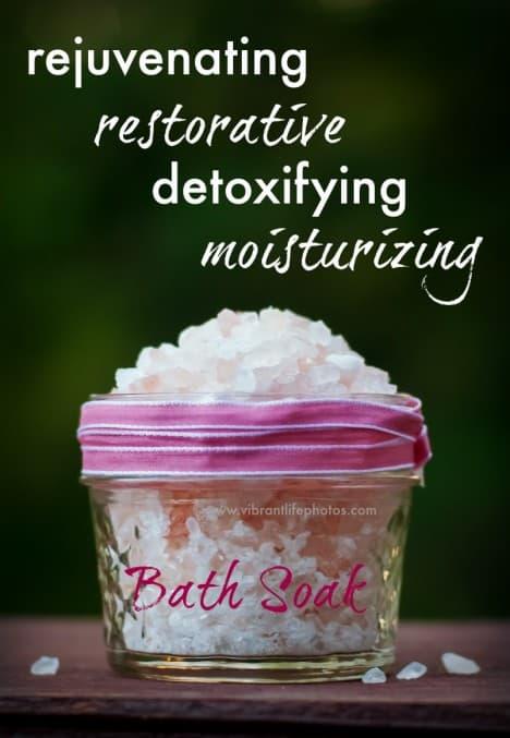 Restorative Bath Soak with Essential Oils