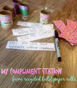 DIY Compliment Station – #CareToRecycle