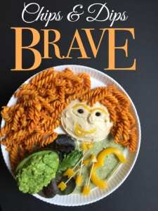 Brave Merida Party Food Idea: Chips & Dip Plate