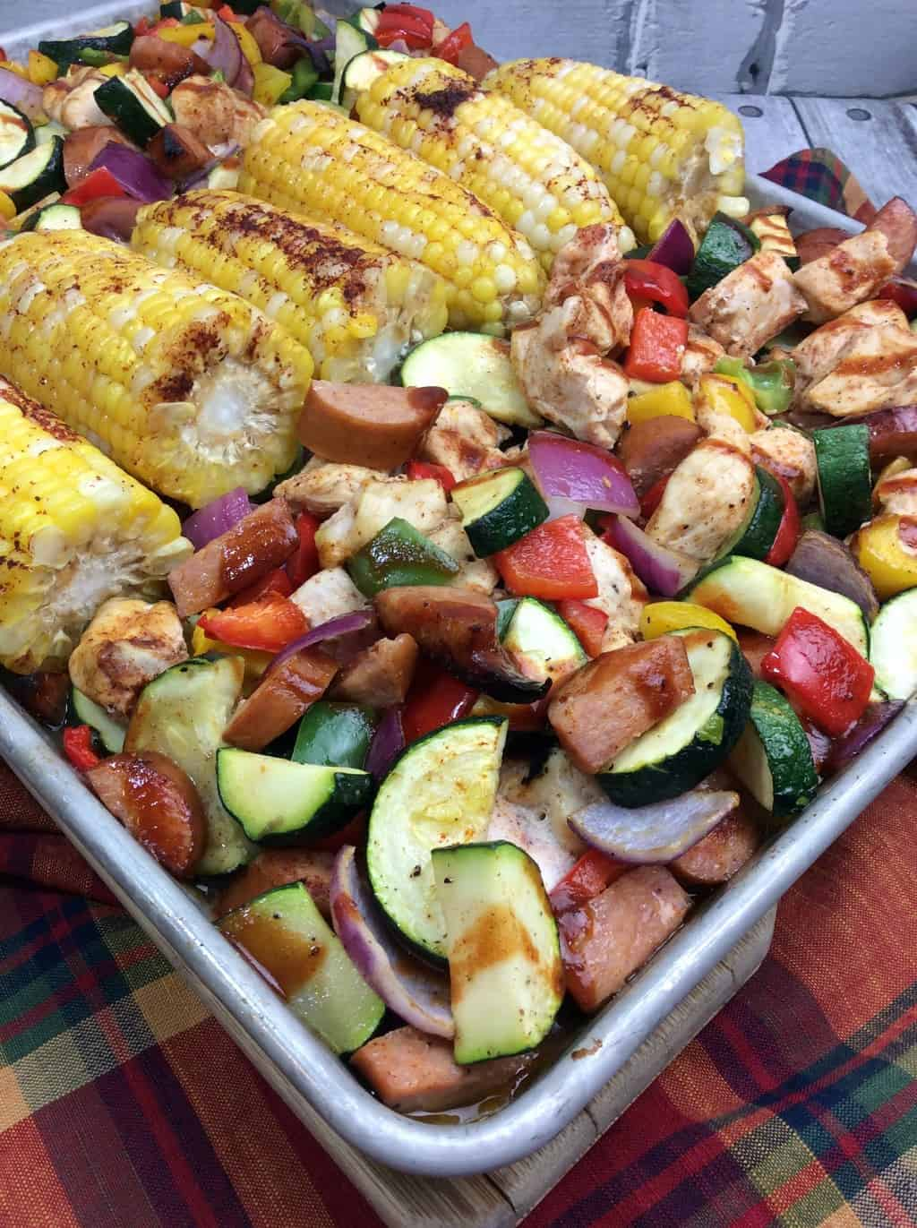 BBQ Chicken Sheet Pan Dinner Recipe