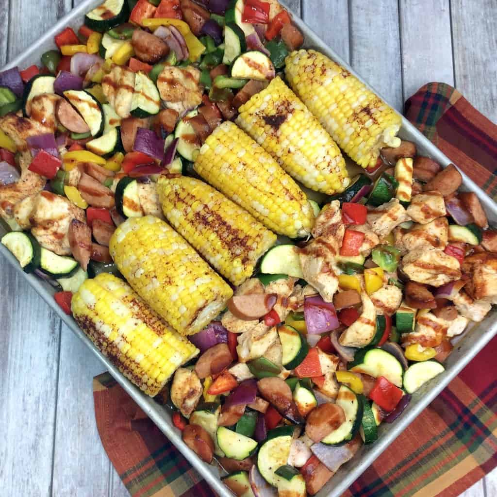 Easy & Healthy BBQ Chicken Sheet Pan Dinner Recipe