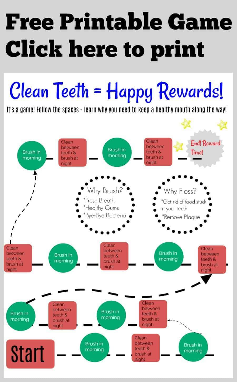 Free Printable Tooth Brushing Game