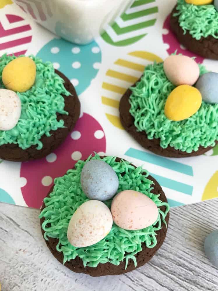 Chocolate Birds Nest Cookies Recipe