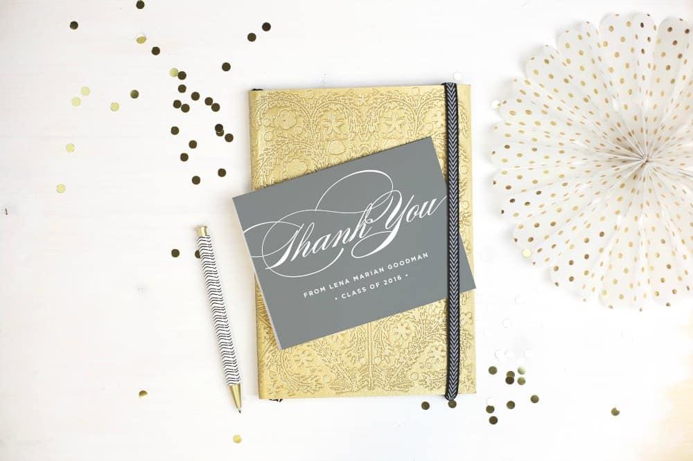 Basic Invite Graduation Thank You Cards
