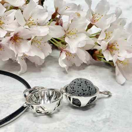 Essential Oils Necklace with Lava Rock