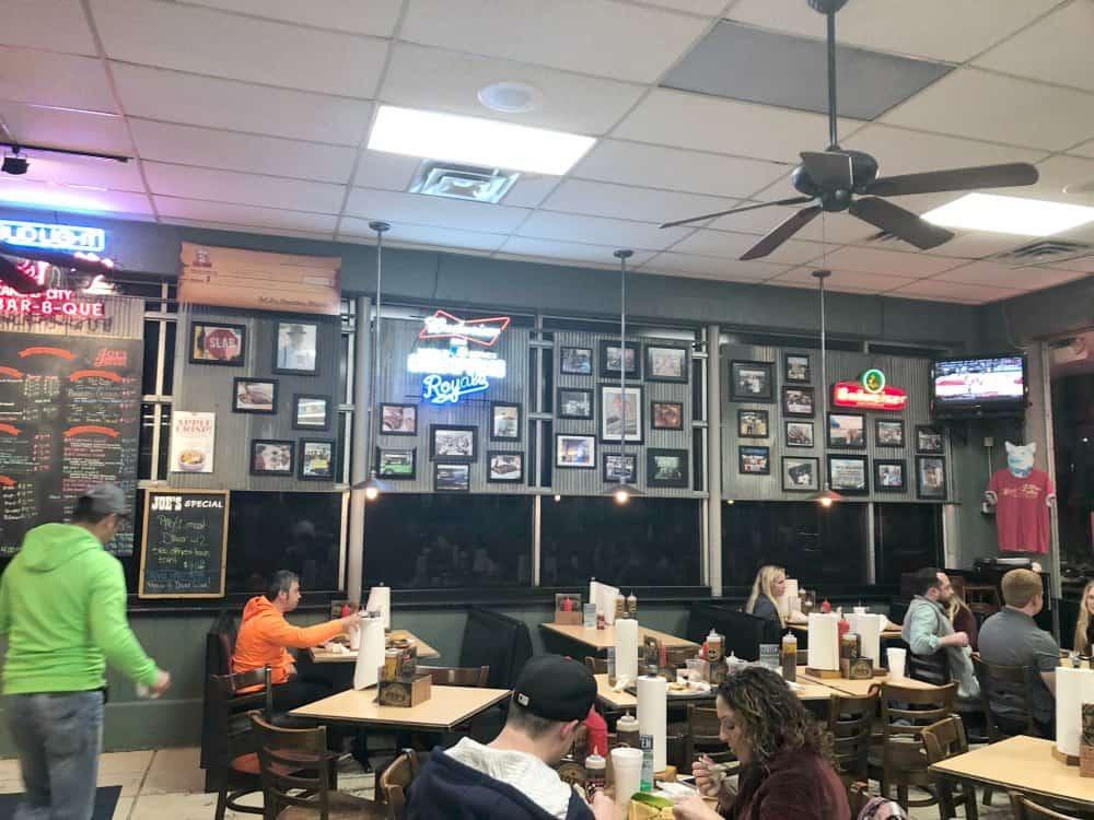 Joes Kansas City BBQ photo wall