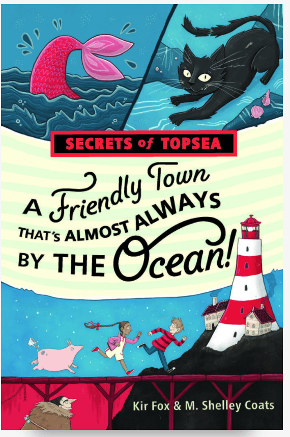 A Friendly Town That's Almost Always By The Ocean Book Cover