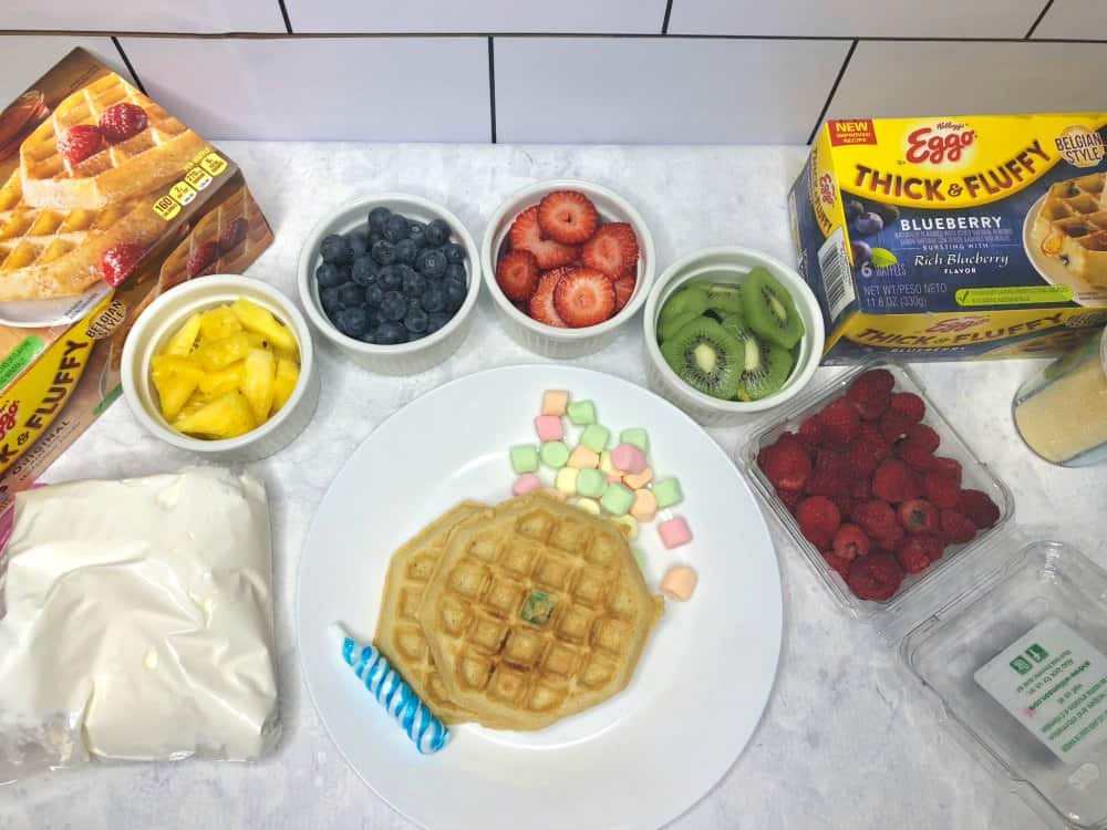 Eggo Waffles with Fruit